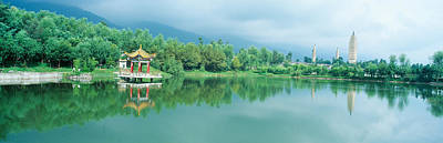 Dali Photograph - Reflection Of Pagoda Pavilion In Dali by Panoramic Images