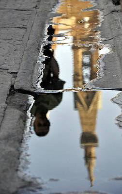 Photograph - Reflection Of Santa Croce by Andrew Dinh