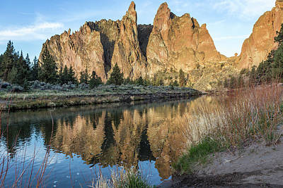 Photograph - Reflection Of Smith Rock In Crooked River by Belinda Greb