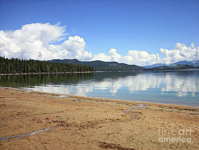 Photograph - Reflection Of Spring Mountain Lake by Carol Groenen
