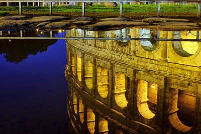Photograph - Reflection Of The Colosseum by Fabrizio Troiani