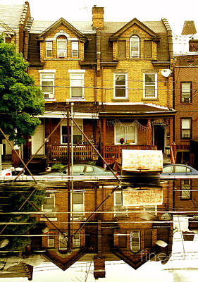 Photograph - Reflection Of The Duplex by Christopher Shellhammer