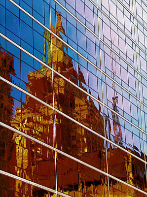Reflection Of The Past - Tulsa Art Print