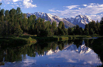 Reflection Of The Teton Mountans Art Print by Richard Nowitz