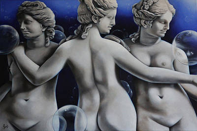Reflection Of The Three Graces Original by Sherri Mull