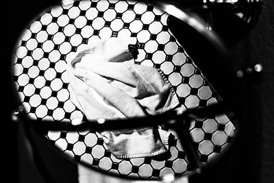 Photograph - Reflection Of Towel In Mirror by Jeanette Fellows