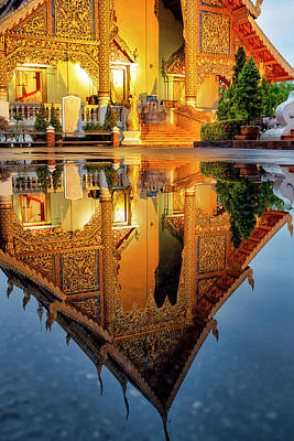 Photograph - Reflection Of Wat Phra Singh by Fabrizio Troiani