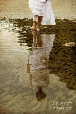 Photograph - Reflection Of Woman In Water by Clayton Bastiani