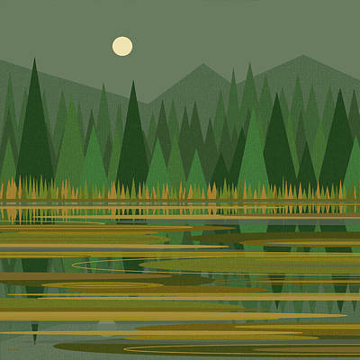 Reflection On A Mountain Pond Art Print