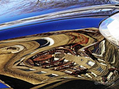 Reflection On A Parked Car 11 Art Print by Sarah Loft