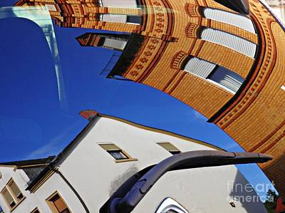 Photograph - Reflection On A Parked Car 15 by Sarah Loft