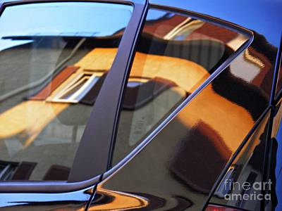 Photograph - Reflection On A Parked Car 16 by Sarah Loft