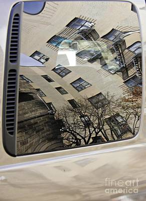Contemporary Abstract Photograph - Reflection On A Parked Car 17   by Sarah Loft