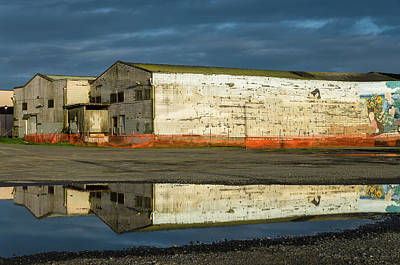Photograph - Reflection On Abandoned Building by Greg Nyquist