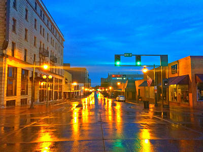 Photograph - Reflection On Main Street by Kathy M Krause
