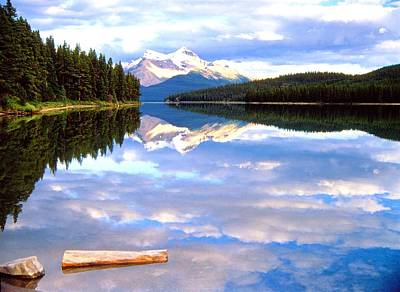 Reflection On Malign Lake Art Print