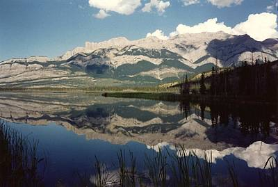 Reflection On Talbot Lake Print by Shirley Sirois