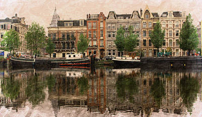 Photograph - Reflection On The Amstel by Hugh Smith