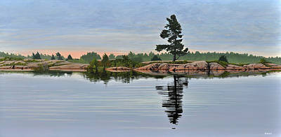 Painting - Reflection On The Bay by Kenneth M Kirsch