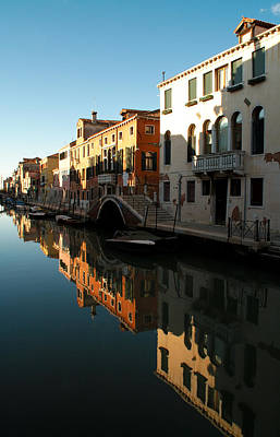 Reflection On The Cannaregio Canal In Venice Art Print by Michael Henderson