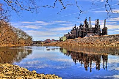 Photograph - Reflection On The Lehigh - Bethlehem Pa by DJ Florek