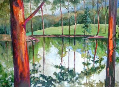 Painting - Reflection Pond by Kathy  Karas