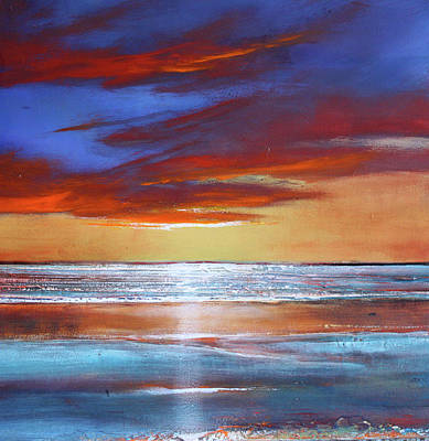 Shimmering Painting - Reflection Shimmers by Toni Grote