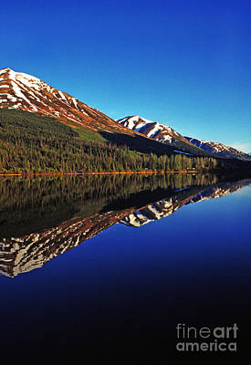 Land Of The Midnight Sun Photograph - Reflection Summit Lake by Thomas R Fletcher