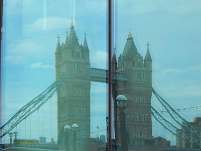 Photograph - Reflection Tower Bridge by Bob Williams
