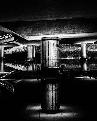 Photograph - Reflection Under A Bridge Overpass by Alexandre Rotenberg