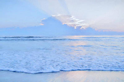Abstract Beach Landscape Digital Art - Reflections 6 by Lonnie Christopher