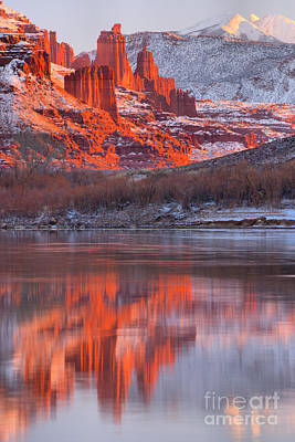 Moenkopi Sandstone Photograph - Reflections Along Highway 128 by Adam Jewell