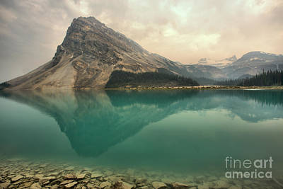 Photograph - Reflections Along The Bow Lake Shoreline by Adam Jewell