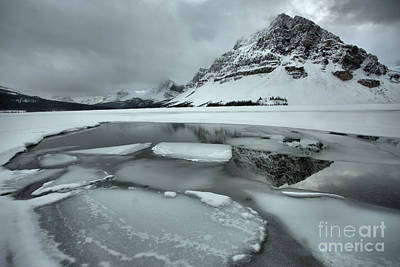 Photograph - Reflections Among The Bow Lake Ice Chunks by Adam Jewell