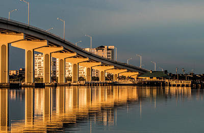 Photograph - Reflections And Bridge by Dorothy Cunningham