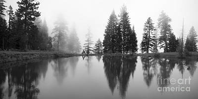 Photograph - Reflections And Fog by Idaho Scenic Images Linda Lantzy
