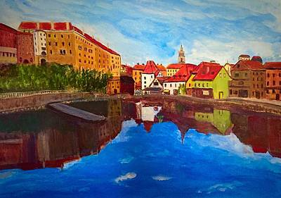 Czech Reflections Art Print