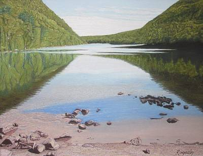 Reflections At Bubble Pond Art Print