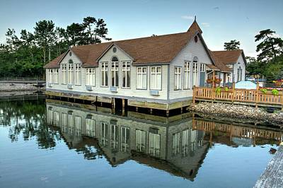 Cartoons Tees - Reflections at Historic Smithville Inn  by Geraldine Scull