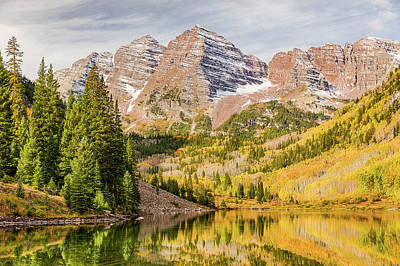 Photograph - Reflections At Maroon Lake by Eric Glaser