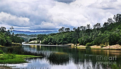 Photograph - Reflections At Nicasio Reservoir  by Nancy Chambers