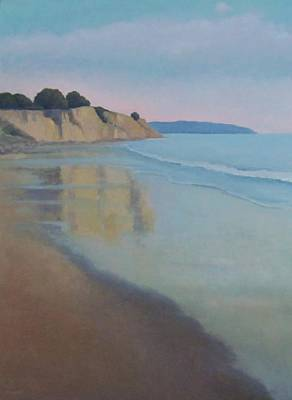 Reflections At Summerland Beach Series 3 Art Print by Jennifer Boswell
