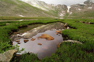 Photograph - Reflections At Summit Lake by Alan Bland