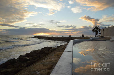 Cloud Like Glass Photograph - Reflections At Sunset by Sheila Lee