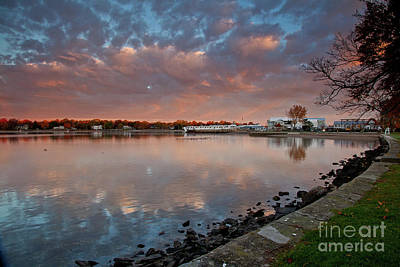Photograph - Reflections At The Town Beach by Butch Lombardi