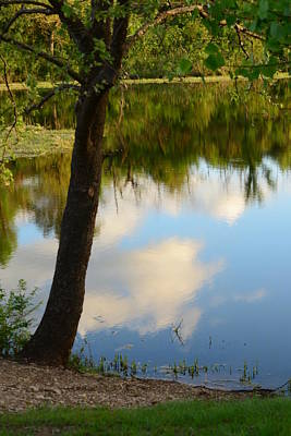 Photograph - Reflections At Veterans Lake by Vonda Barnett