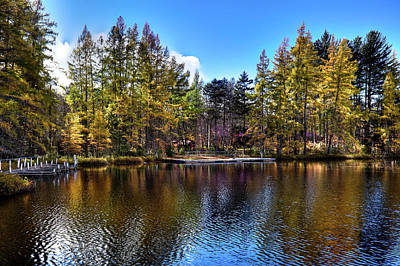 Photograph - Reflections At Woodcraft Camp by David Patterson