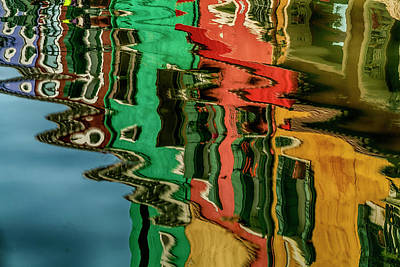 Photograph - Reflections Burano Venice Italy_dsc5099_03032017 by Greg Kluempers