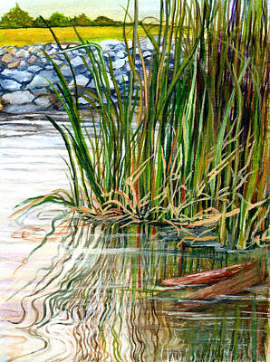 Cajun Painting - Reflections by Elaine Hodges