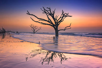 Photograph - Reflections Erased - Botany Bay by Rick Berk